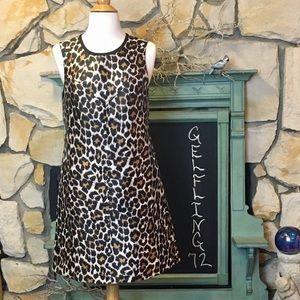 J Crew Leopard Print A Line Dress